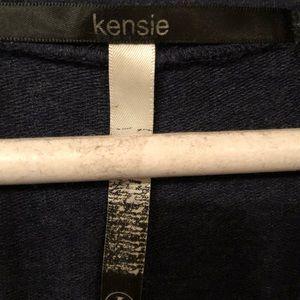 Kensie Dresses - Kenzie quarter zip pullover navy colored dress